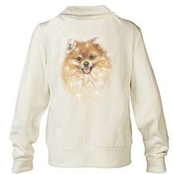 Pomeranian Doggone Cute Embroidered Knit Jacket with Sequins