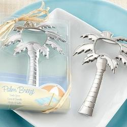 Palm Tree Chrome Bottle Opener Favors