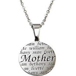 Personalized Mother or Grandma Family Names Necklace
