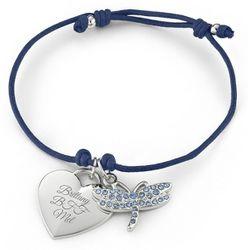 Navy Dragonfly Friendship Bracelet