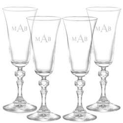 Bell Champagne Glasses with Monogram