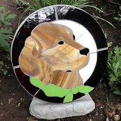 Memorial Stained Glass Stepping Stone For Dog Findgift Com