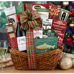Vintners Path Chardonnay Season's Greetings Gift Basket