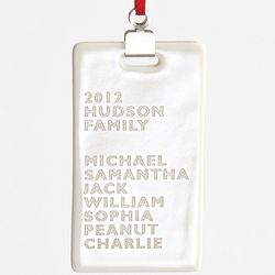 Personalized Family Name Ceramic Rectangle Ornament