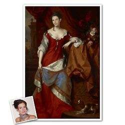 Classic Painting Princess of Denmark Personalized Print