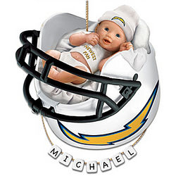 San Diego Chargers Personalized Baby's First Christmas Ornament