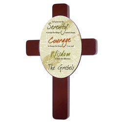 Personalized Serenity Prayer Wall Cross