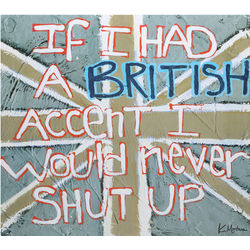 British Accent Sign