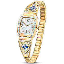 Women's Moments of Faith Stretch Watch with Crystals