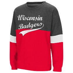 Girl's Wisconsin Badgers Crew Sweatshirt