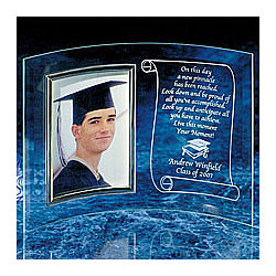 Personalized Beveled Glass Graduation Frame