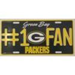 Packers No.1 Fan License Plate