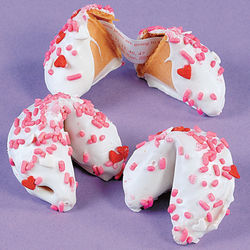 Dipped Valentine Fortune Cookies
