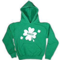 Personalized Shamrock Green Hooded Sweatshirt