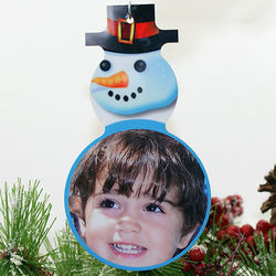 Holiday Color Photo Snowman Christmas Ornament