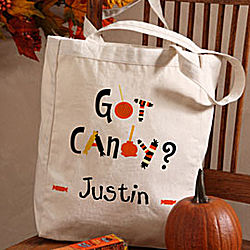 Personalized Got Candy? Trick Or Treat Bag