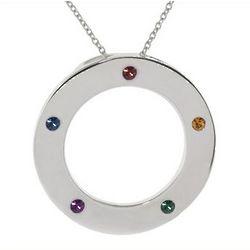 5 Stone Engravable Austrian Crystal Family Pendant