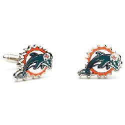 Miami Dolphins Enamel Cufflinks