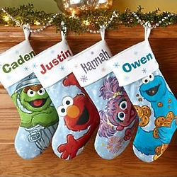 Personalized Sesame Street Fleece Christmas Stocking