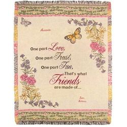 What Friends Are Made Of Cotton Throw