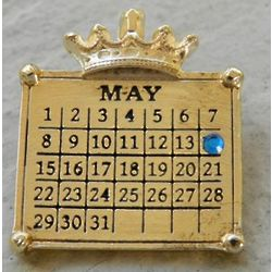 Calendar Necklace with Swarovski Crystal