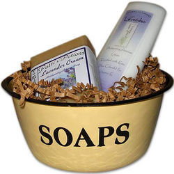 Retro Enamelware Soap Dish Set