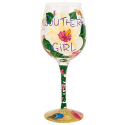 Southern Girl Wine Glass