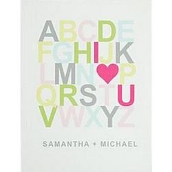 I Heart U Alphabet Canvas Art