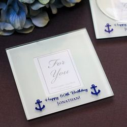 Personalized Frosted Glass Photo Coasters Favors