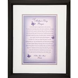 Personalized Mother's Day Prayer Framed Print