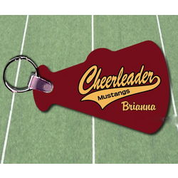 Custom Photo Cheer Key Chain