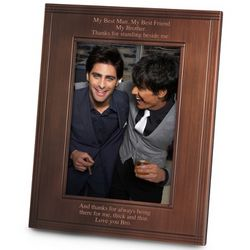 Portrait Deco Brushed Bronze 5x7 Picture Frame