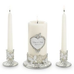 Butterfly Wedding Candle Unity Set