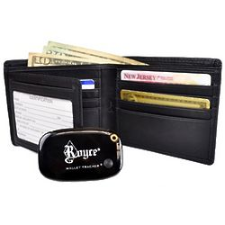 Men's Leather Freedom Wallet with GPS Tracker