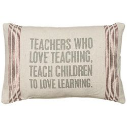 Teachers Who Love Teaching Pillow