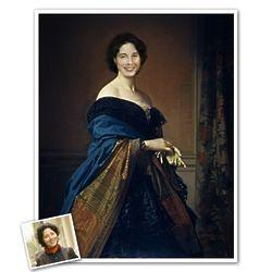 Classic Portrait of Saturnina Personalized Print