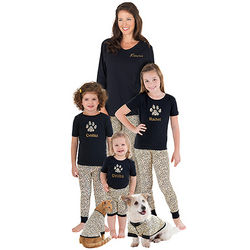 Mommy and Me Leopard Lounge Matching Family Pajamas