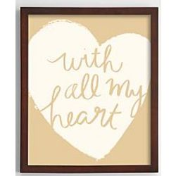 With All My Heart Yellow Art Print