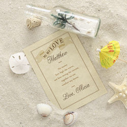 All My Love Personalized Love Letter in a Bottle