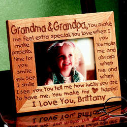 Personalized Grandma and Grandpa Frame