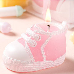 Pink Baby Bootie/Sneaker Design Candle