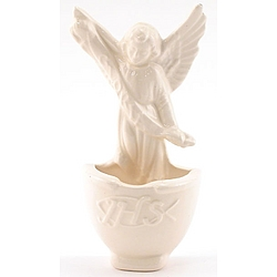 White Ceramic Angel Water Font