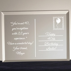 Birthday Postcard from the Heart Acrylic Plaque
