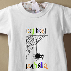 Itsy Bitsy Spider Personalized Halloween Romper