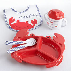 Crabby Baby Mealtime Gift Set