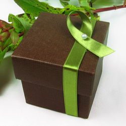 Brown Square Favor Box