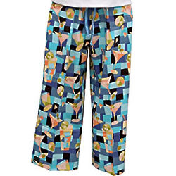 Cracked Ice Martiniwear Capris Pants