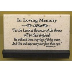 In Loving Memory Prayer Jerusalem Stone