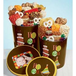 Happy Birthday Deluxe Popcorn Snack Gift Tin
