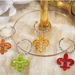 Murano Fleur de Lis Design Wine Charms